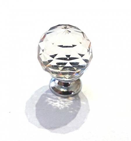 Gałka uchwyt kryształowa szkło B014