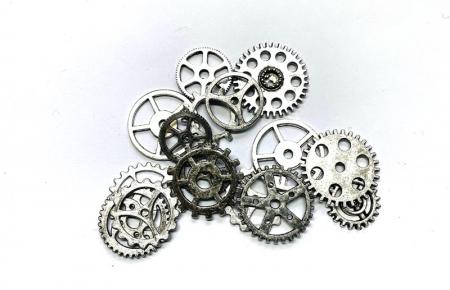 Dekor D04 koło zębate(srebrny)